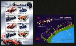 AZERBAÏDJAN - GP F1 2016 - FERRARI - 2 BLOCS FEUILLETS NEUFS ** - Azerbaiján