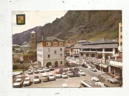 Cp, Automobiles , Citroen 2 Cv , Wolkswagen Combi,camion , Bus,Renault 4...Andorre ,Andorrala Vella ,plaça Rebes - Passenger Cars