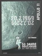 """Österreich: Block """"50 Jahre Mondlandung"""" Gestempelt (s.Foto) - 1945-.... 2nd Republic"""