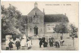 CPA , D. 89, Chatel-Gerard , La Mairie ,Animée ,Ed. Dolin - France