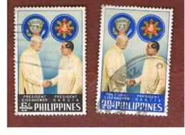 FILIPPINE (PHILIPPINES) - SG 865.866 -  1960 PRESIDENT EISENHOWER VISIT (COMPLET SET OF 2)  - USED ° - Filippine