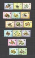 Y514 1984 LESOTHO FLORA FAUNA BUTTERFLIES #442-57 MICHEL 25 EURO !!! BIG SET MNH - Butterflies