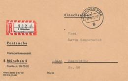 Dienst Postsache München R-Brief Postsparkassenamt 1972 - BRD