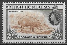British Honduras 1957. Scott #145 (M) Fauna, Tapir - Brits-Honduras (...-1970)