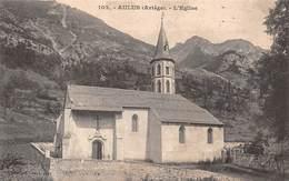 Carte Postale Ancienne - Aulus, L'église - Frankreich