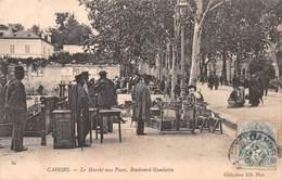 Carte Postale Ancienne - Cahors, Le Marché Aux Puces Boulevard Gambetta - Cahors