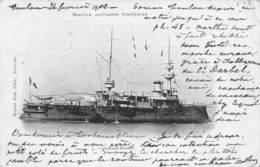 Carte Postale Ancienne - Marine Militaire Française, L'amiral Baudin - Krieg