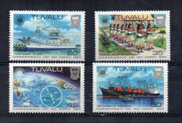 TUVALU - 1983 - Commowealth Day - 4 Valori . Nuovi - Linguellati - (FDC16983) - Tuvalu