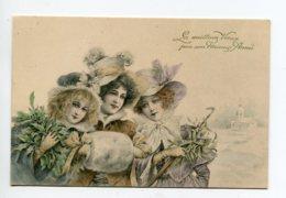 VIENNOISE 072 M.M VIENNE Nr 89 Les Meilleurs Voeux Pour Une Heureuse Année Trio Jeunes Femmes Campagne Hiver Neige - Vienne