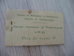 TP Colonies Françaises Madagascar Carnet 20 Timbres Mauvais état Mais Complet Rouille En L'état - Madagascar (1889-1960)