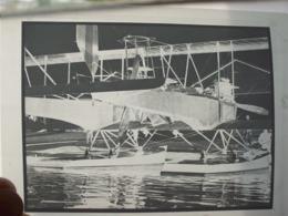 NEGATIVO DI FOTOGRAFIA IN B/N AEREO BIPLANO IDROVOLANTE CAPRONI - Aviation