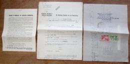 """3 Papieren """"Gevaarlijke, Ongezonde Of Hinderlijke Inrichtingen, Vergunning Firma Cocquyt-De Ceulener Gent 1942 - Verzamelingen"""
