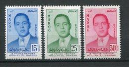 14772 MAROC N° 377/9 **  Série  Le Prince Héritier Moulay El Hassan    1957    TB/TTB - Maroc (1956-...)