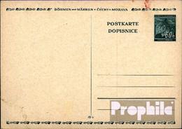 Böhmen Und Mähren P2 Amtliche Postkarte Ungebraucht Mi.-Nr.: P2 Amtliche Postkarte - Boemia E Moravia