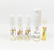 5 échantillons Parfum Tubes  NINA  DE NINA RICCI  EDT - Echantillons (tubes Sur Carte)