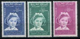 14776 MAROC  N° 393/5 ** Série  Semaine De L'Enfance S.A.R Lalla Amina   1959  TB/TTB - Maroc (1956-...)