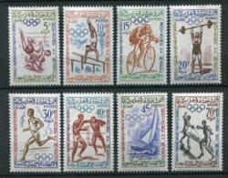 14780 MAROC N° 413/20** Sére :  Jeux Olympiques De Rome  1960  TB - Maroc (1956-...)