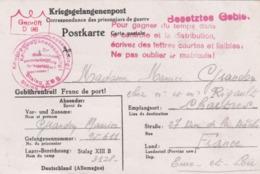 Lettre D'un Prisonnier De Guerre écrite Le 1-1-41 Pour Chartres Avec Divers Cachets . - Marcophilie (Lettres)