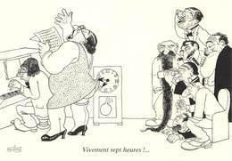 Albert DUBOUT - Editions Jean Dubout N'D 85 - Grivoises - L'Horloge - Grosse Femme Chanteuse - Pianiste - Dubout