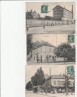 3 CPA:LE BOURGET (93) PERSONNES EN TERRASSE CARREFOUR AVENUE DE DRANCY,MOULINS À BOULANGER ROUTE DE FLANDRE,.....ÉCRITES - Le Bourget