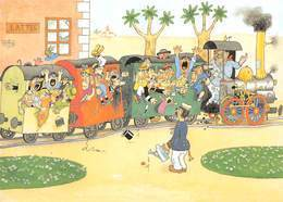 Albert DUBOUT - Editions Jean Dubout N'D 57 - Train En Gare De Lattes - Dubout