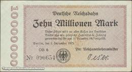 TWN - GERMANY S1014d - 10000000 10.000.000 Mark 2.9.1923 Series OB 6 Uniface AU/UNC - Germania