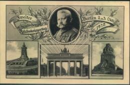 """1937, Privatganzsache """"Zweiter Deutscher Reichskriegertag, Berlin. - Ungebraucht - Enteros Postales"""
