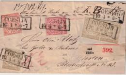 1868, Paketbegleitung Mit 3-Farben-Frankatur Ab CÖSLIN. Ansehen - Conf. De L' All. Du Nord