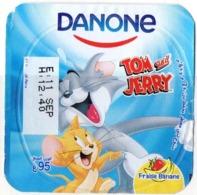 """Opercule Cover Yaourt Yogurt """" Danone """" Tom & Jerry 5 French Disney Banane  Banana  Yoghurt Yoghourt Yahourt Yogourt - Milk Tops (Milk Lids)"""