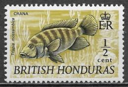 British Honduras 1969. Scott #234 (MNH) Crana, Fish - Brits-Honduras (...-1970)