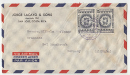 Jorge Lacayo & Sons, San Jose Company Air Mail Letter Cover Travelled 195? To Germany B190922 - Costa Rica