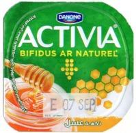 "Opercule Cover Yaourt Yogurt "" Danone "" ACTIVIA Miel Honey Yoghurt Yoghourt Yahourt Yogourt - Milk Tops (Milk Lids)"