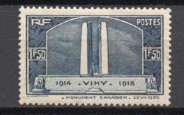 - FRANCE N° 317 Neuf * MH - 1 F. 50 Bleu Vimy 1936 - Cote 18 EUR - - Neufs