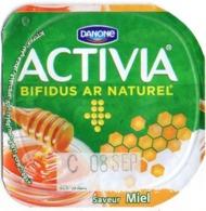 "Opercule Cover Yaourt Yogurt "" Danone "" ACTIVIA Miel Honey Yoghurt Yoghourt Yahourt Yogourt - Opercules De Lait"