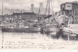 The Quays Lincoln éditeur Raphael Tuck & Sons N°2356 Timbré Oblitération  Péniche - Lincoln