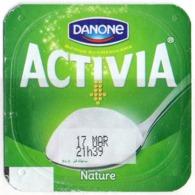 "Opercule Cover Yaourt Yogurt "" Danone "" ACTIVIA Nature Honey Yoghurt Yoghourt Yahourt Yogourt - Opercules De Lait"