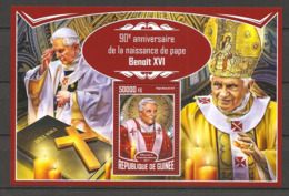 GUINEA - 2017 90° Compleanno Papa BENEDETTO XVI Nuovo** MNH Papa Pope Papst Pape - Papi