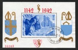 BELGIE 1942 BLOKJE ORVAL GEBRUIKT USED PERF 18 GENUMMERD VF TB - Blocks & Sheetlets 1924-1960
