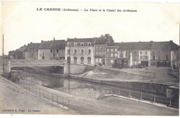 CPA - Le Chesne - La Place Et Le Canal Des Ardennes - Le Chesne