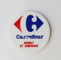 Jeton De Caddie Plastique CARREFOUR Mont St Aignan - Gettoni Di Carrelli