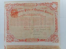 The MONT De PIETE Of ENGLAND   1889       LONDON - Actions & Titres