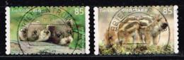 Bund 2017,Michel# 3293 - 3294 O Tierkinder: Iltis Und Wildschwein Markenset Selbstklebend, Self-adhesive - BRD