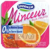 "Opercule Cover Yaourt Yogurt "" Soummam "" MINCEUR Anana Lemon Orange Yoghurt Yoghourt Yahourt Yogourt - Opercules De Lait"