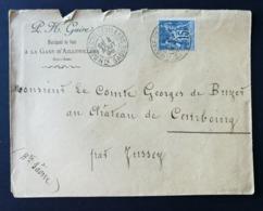 Enveloppe Marchand De Bois Avec Cachet Gare D''Aillevillers Hte Saone - Storia Postale