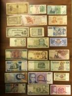 Lot - 50 Pcs Different World Banknotes - Billets