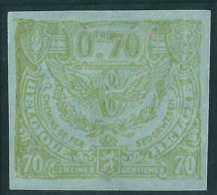 TR110 (*) Proef Van De Plaat - Groen Op Gewoon Blauw Papier - Ongetand - Proofs & Reprints