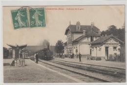 CPA  27  CHARLEVAL INTERIEUR DE LA GARE  -- TRAIN - Ivry-la-Bataille