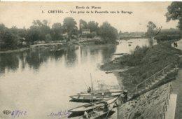 CPA -  CRETEIL - BORDS DE MARNE - VUE PRISE DE LA PASSERELLE VERS LE BARRAGE (ETAT PARFAIT) - Creteil