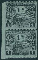 TR114 In Paar (*) Proef Van De Plaat - Zwart Op Gewoon Blauw Papier - Horizontaal Getand - Vertikaal Ongetand - Proofs & Reprints