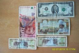 Lot De 5 Billets/5 Dihram Sans Date(Banque Du Maroc)+Divers Billets(plus Beau Que Photos).Pas Déchirés... - Marocco